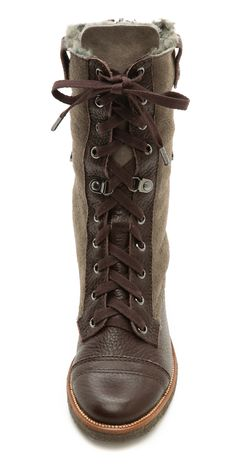 Diane von Furstenberg Alexia Combat Boots with Shearling | SHOPBOP