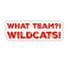 What Team?! WILDCATS! in red Sticker