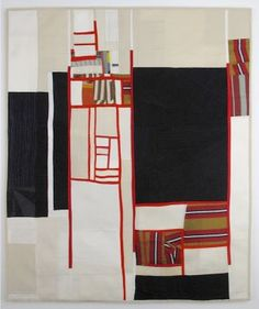 Release of Time #6. By textile artist Debra Smith of Kansas City, Missouri, USA. Work is 2 layers of pieced vintage silks & vintage kimono fabrics.  Website: debramsmith.com