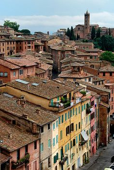| ♕ | Siena rooftops, Tuscany | by © Bruno Brunelli | via ysvoice