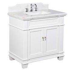 Image Of Virtu USA Khaleesi inch White Bathroom Vanity cabinet by VIRTU USA Traditional Single sink vanity and Shopping