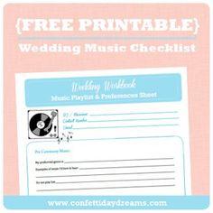 wedding dj checklist   Music _ Memories DJ Service Wedding Planner ...