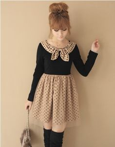 Fashion japanese style sweet bow dress V7675_Out of Stock Styles_Fashion Wholesale, Korean and Japan Fashion Clothing Wholesale tights - dressky