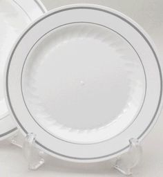 disposable u201cchina likeu201d plates; $11.69 for 12 pack - are they recyclable?  sc 1 st  Pinterest & Bulk Wedding 10.5u0027 u0026 7.5u0027 Disposable Heavyweight Plastic Plates + ...