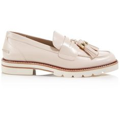 Stuart Weitzman Manila Platform Loafers (3,355 GTQ) ❤ liked on Polyvore featuring shoes, loafers, tassel loafers, leather tassel loafers, stuart weitzman shoes, lug-sole shoes and tassel loafer shoes