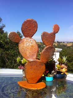 Nopal, Steel Cactus. Garden Art, Metal Sculptures,Metal Garden Sculpture, Metal Cactus, Metal Agave, Garden Decor, Southwestern Decor,agave