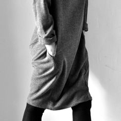 """robe """"déformée"""" en chevrons gris - VDJ, chaussettes - Album di Famiglia"""