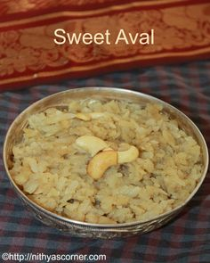 Aval jaggery recipe,poha jaggery,sweet poha. A simple,easy and delightful snack made with aval/poha and jaggery.