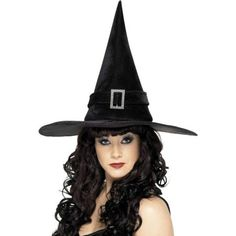 You can purchase a black witch hat for your witch costume in parties from the Halloween Spot. This black witch hat comes with a Diamante Buckle attached on it. Halloween Party Kostüm, Halloween Fancy Dress, Halloween Outfits, Women Halloween, Halloween Costumes, Halloween Witches, Halloween Ideas, Occasion Hats, Costume Hats