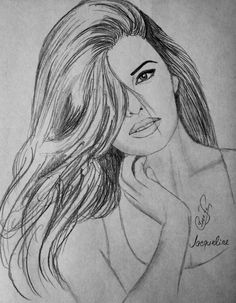 Jacqueline fernandez black and white sketches, actors images, jacqueline fernandez, pencil art, Pencil Sketches Of Faces, Pencil Sketch Drawing, Girl Drawing Sketches, Face Sketch, Pencil Art Drawings, Pencil Drawing Tutorials, Kpop Drawings, People Drawings, Friends Sketch
