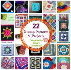 22 Wonderful #crochet Granny Squares and Projects - Excellent stash busters