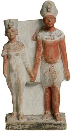 Akhenaton and Nefertiti. The finest collection outside Cairo, featuring a Sphinx in the crypt, the Seated Scribe of Sakkara, huge sarcophagi, mummified animals, funerary objects and intricate carvings depicting everyday life in Ancient Egypt. - Louvre