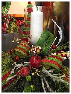 Christmas Candle Centerpiece