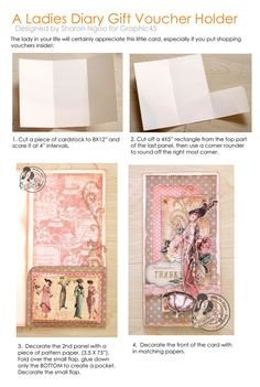 Try Sharon Ngoo's card gift card voucher tutorial yourself! #graphic45 #tutorials