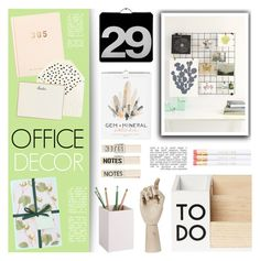 """Office Decor"" by c-silla ❤ liked on Polyvore featuring interior, interiors, interior design, home, home decor, interior decorating, Urban Outfitters, kikki.K, HAY and J.Crew"