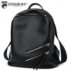 (76.50$)  Watch here - http://aipn7.worlditems.win/all/product.php?id=32795384487 - ZOOLER Fashion Backpack Women Leather 2017 Backpacks Black Mochila De Couro Girls Bags Solid Color Large Capacity Female Rugzak