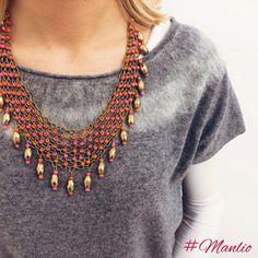 ⭐️ ALIBEY ⭐️ Collana maglia metallica con pendenti €38 #manlioboutique  Per spedizioni  WhatsApp 329.0010906 #alibeyaccessorios #new #spring #necklace #spring #todayimwearing #instastylejewelry #jewels #jewel #fashion #gems #gem #gemstone #bling #stones #stone #trendy #accessories #love #crystals #beautiful #ootd #style #fashionista #accessory #instajewelry #stylish #cute #jewelrygram #fashionjewelry #collana