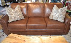 Brown Leather Sofa www.lifestylescomo.com