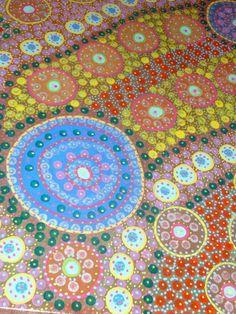 """Aussie dot"" acrylic on canvas- artwork by T.Wulf"