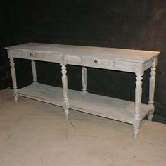 French Drapers Table-Antique 19th C French bleached oak drapers table. 1890.