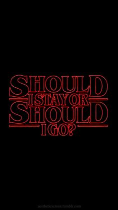 The Should I Stay or Should I Go Stranger Things shirt features the song Will Byers listens to. Dark Souls, Film Manga, Should I Stay, Stranger Things Aesthetic, Will Byers, Film Serie, Statements, Rock And Roll, Percy Jackson