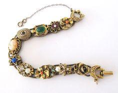 Vintage Goldette Slide Bracelet Fly Fleur by LovesVintageDelights, $45.00