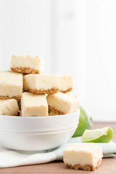 Key Lime Pie Fudge This tart fudge requires a little bit of oven work, but the delicate, buttery graham cracker crust makes it totally worthwhile. Get the recipe from Delish. Lime Recipes, Fruit Recipes, Candy Recipes, Summer Dessert Recipes, Easy Desserts, Delicious Desserts, Fruit Dessert, Mini Desserts, Dessert Bars
