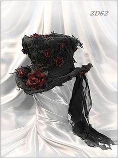 Gothic fashion 488570259573389534 - Damen-Zylinder ladies' top hat Source by Steampunk Hut, Steampunk Clothing, Steampunk Fashion, Steampunk Top Hat, Steampunk Necklace, Gothic Mode, Gothic Lolita, Victorian Hats, Victorian Fashion