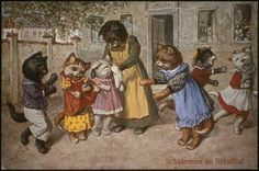 An old German postcard illustrated by Arthur Thiele