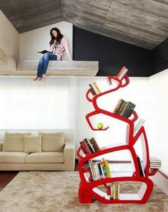 as 25 melhores ideias de unique bookshelves no pinterest prateleiras estantes de livros e. Black Bedroom Furniture Sets. Home Design Ideas