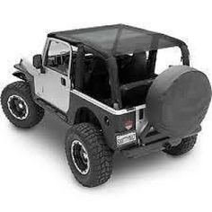 Extended Bikini Top, Jeep TJ (1997-2006), Black Mesh