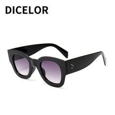 3fa50717b1 DICELOR Rectangle Sunglasses Women Luxury Brand Designer Vintage Mirror Sun  glasses Female Rivet Glasses Shadow Style