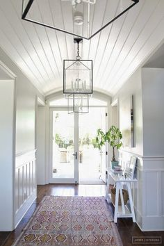 white walls and ceiling interest