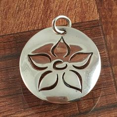 James Avery Floral Disc Pendant Sterling Silver Flower #JamesAvery