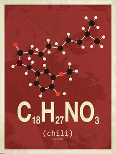 Chili molecule poster More