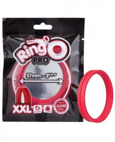 Enjoy super-stretchy erection enhancement with the strength of lab-tested True Silicone! Screaming O RingO Pro XXL features a seamless stretch-to-fit design with a wide flat band that stays firm and secure for a longer-lasting experience. Made of 100% body-safe silicone with softer flexibility, RingO Pro XXL measures a 2.25â diameter for a more comfortable feel. Features: 100% True Silicone penis ring stretches to 2.25â. Seamless stretch-to-fit design. Wide flat band for firm…
