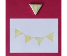 Triangle carved rubber stamp in strip / geometric by theKeris, $3.25
