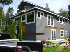 Painter in Camano Island is offered by True Quality Painting & Siding, LLC. True Quality Painting & Siding, LLC is a quality House Painter in Marysville, Arlington, and Camano Island Exterior Paint Colors For House, Paint Colors For Home, Exterior Colors, Paint Colours, Grey Exterior, Exterior Siding, Camano Island, House Trim, Vinyl Siding