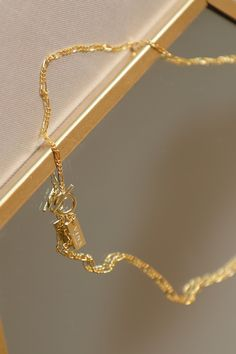 Easy Clasp Figaro Chain Necklace