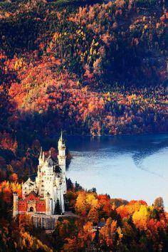 Neuschwanstein Castle in Autumn
