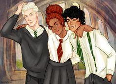 The Cursed Child - Scorpius, Rose and Albus by noctefuror