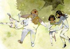 Hunter x Hunter: Killua, Milluki, Kalluto, and Illumi Killua, Hisoka, Manga Drawing, Manga Art, Kalluto Zoldyck, Zoldyck Family, Yoshihiro Togashi, Familia Anime, D Gray Man
