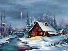 achter grond kerst