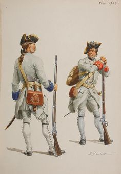 French; Regiment de Bresse, Grenadier & Régiment de Guise, Fusilier, 1745