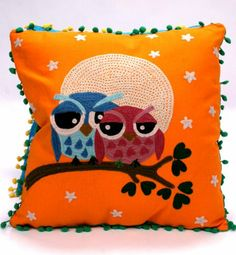 Karma Living Love Owls Throw Pillow - 16 x 16 (Orange) Karma Living http://www.amazon.com/dp/B0077QMOV8/ref=cm_sw_r_pi_dp_FsKMtb1N25HE36X7