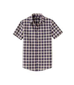 A.P.C Short-sleeve shirt in large plaid  100% Cotton. Front buttoning. Short sleeves. Back yoke. Two back darts. Slightly rounded hem.