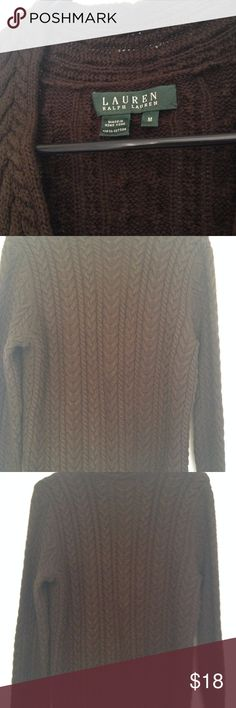 Ralph Lauren Brown Sweater Brown Lauren Ralph Lauren Sweater. Very warm and good quality. used only couple of times Lauren Ralph Lauren Sweaters V-Necks