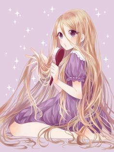 """Anime version of Disney's """"Tangled""""!! Very cute, I usually prefer the anime version of everything haha"""