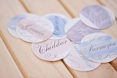 FREE printable: watercolor cheese markers