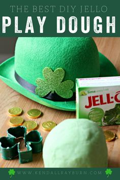 SMOOTH DIY Play Dough using Jello! Not grainy or sticky, perfect play dough! This is a must-try!
